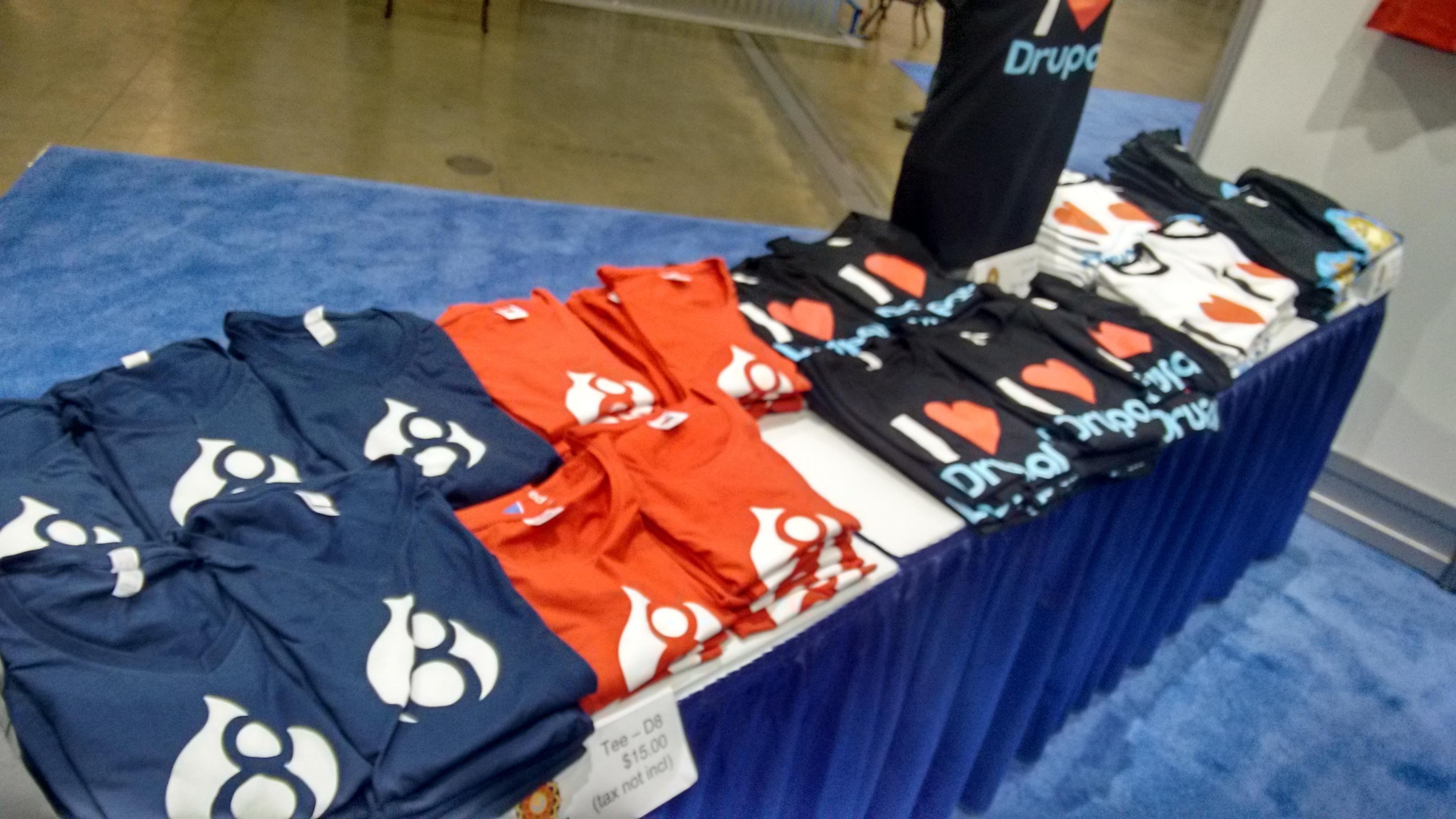 Drupal 8 t-shirts