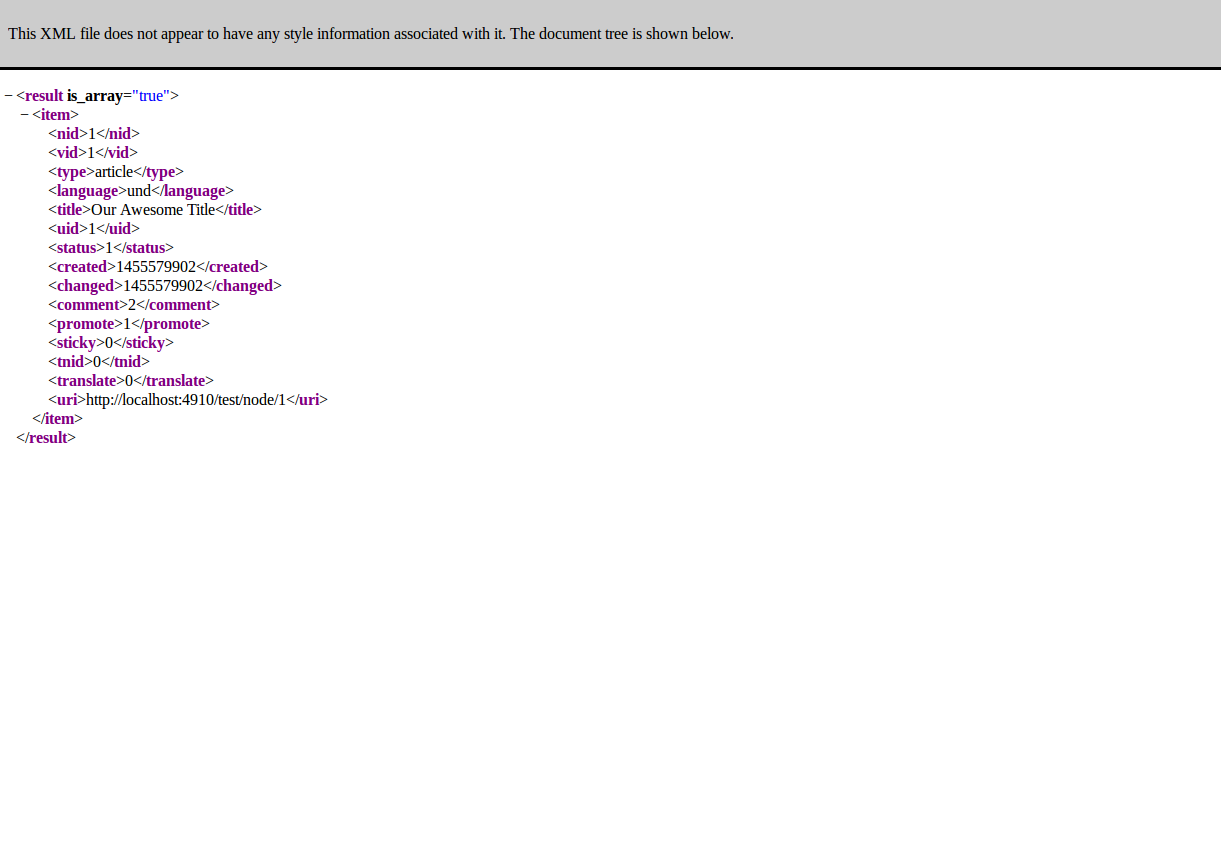 Testing node index